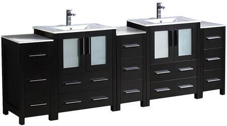 "Fresca FCB6272XXX Torino 84"" Modern Double Sink Bathroom Vanity with Integrated Sink"