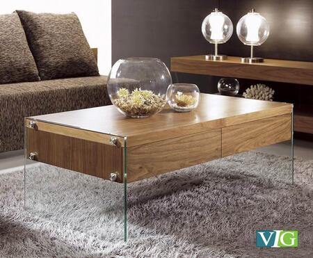 VIG Furniture VGCNAURAWALCT Walnut Modern Table