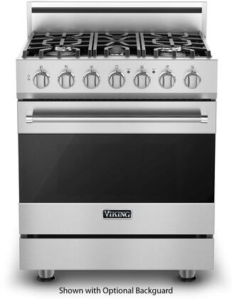 "Viking RVGR33015B 30"" 3 Series Gas Range with 4 cu. ft. Oven, 5 Permanently Sealed Burners, Continuous Grates, ProFlow Convection Baffle and TruGlide Oven Racks in"