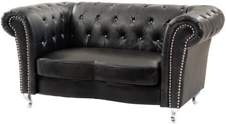 Glory Furniture G753L Faux Leather Stationary with Wood Frame Loveseat