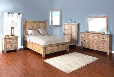 Sunny Designs 2307WBSKBDM2NC Durango King Bedroom Sets