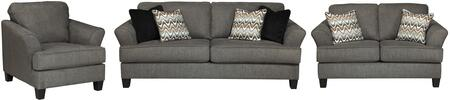 Milo Italia MI8857SLCSTEE Xzavier Living Room Sets