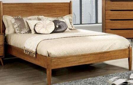 Furniture of America CM7386AQBED Lennart Series  Queen Size Panel Bed