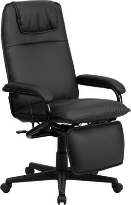 """Flash Furniture BT-70172-GG 24"""" Leather High Back Executive Reclining Office Chair With Padded Headrest, Dual Wheel Casters, Easy Touch Height Adjustable Footrest Lever and Nylon Base in"""