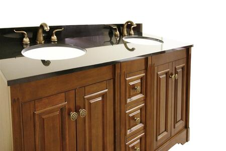 Legion Furniture WLF5048-XX-61 61in. Granite, Backsplash and Cupc Sinks