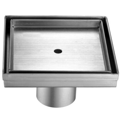 "Alfi ABSD55X 5.25"" Modern Square Shower Drain with Stainless Steel, 2 Drain and Contemporary Design in Stainless Steel"