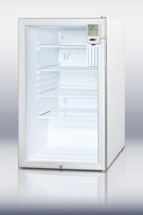 Summit SCR450L7MED Med Series Freestanding Counter Depth Compact Refrigerator with 4.1 cu. ft. Capacity, 3 Wire ShelvesField Reversible Doors