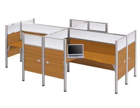 Bestar Furniture 100859D Pro-Biz Four L-desk workstation