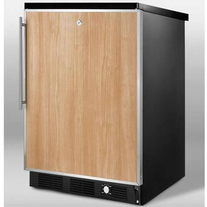 Summit SCFF55LBLIMFR Built-In Upright Counter Depth Freezer