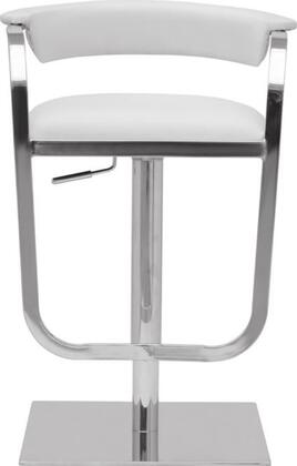 Fine Mod Imports FMI10022WHITE Barb Series Residential Faux Leather Upholstered Bar Stool