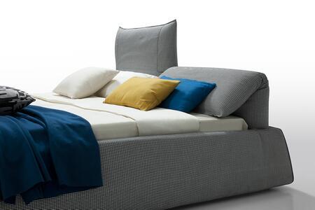 VIG Furniture VGWCGABD10 Modrest Otago - Modern Grey Fabric King Bed with Adjustable Headrests
