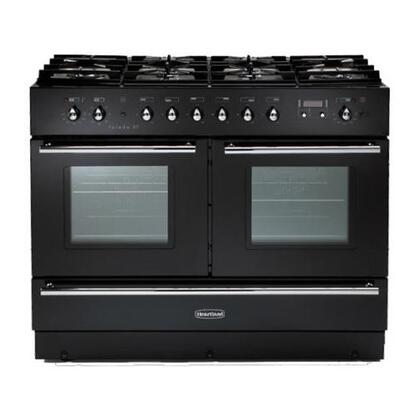 Heartland HLTXTNGBLK Toledo Series Dual Fuel Freestanding Range with Sealed Burner Cooktop, 2.2 cu. ft. Primary Oven Capacity, Storage in Black