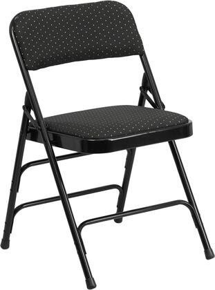 Flash Furniture AWMC309AFGG HERCULES Series Curved Triple Braced & Double Hinged Patterned Fabric Upholstered Metal Folding Chair