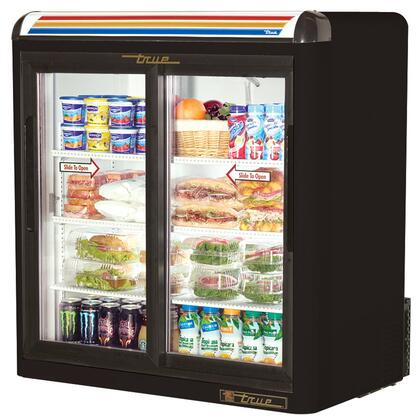 True GDM-9 Counter-Top Refrigerator Merchandiser with 9 Cu. Ft. Capacity, LED Lighting, and Thermal Insulated Glass Sliding-Doors