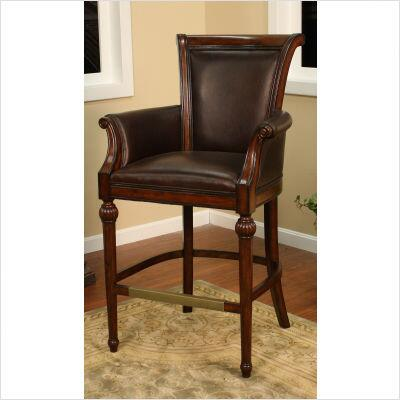 American Heritage 130838 Federico Series Residential Leather Upholstered Bar Stool