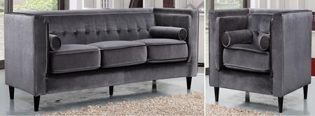 Meridian 642GRYSC Taylor Living Room Sets