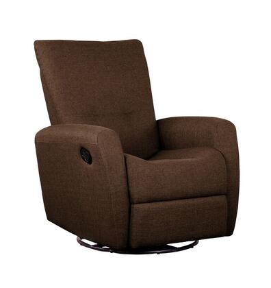Dezmo D85998MLR Push Back Recliner, Glider Rocker, Swivel, and Brake, with Micro-Fiber Fabric