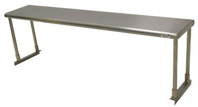 Advance Tabco ETS-12 Lite Series Single Deck Knocked-Down Over Shelf in Stainless Steel