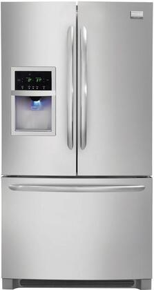 Frigidaire FGHF2344MF Gallery Series Stainless Steel Counter Depth Bottom Freezer Refrigerator with 22.6 cu. ft. Capacity