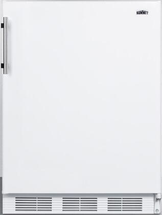 "Summit FF61XADA 24"" ADA Compliant Freestanding Compact Refrigerator with 5.5 cu. ft. Capacity, Wine Shelf, Crisper, Door Storage, Glass Shelves and Interior Lighting:"