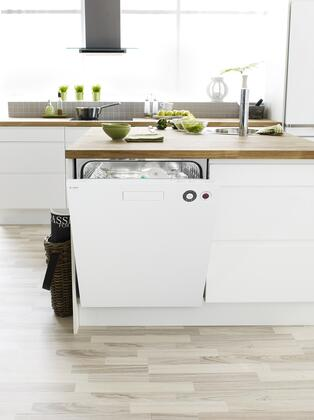 """Asko D5434XXLW 24"""" XXL Series Built-In Full Console Dishwasher with in White"""