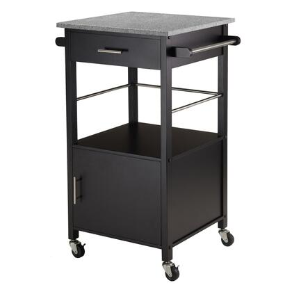 Winsome X0X23 Davenport Ktichen Cart with Granite Top