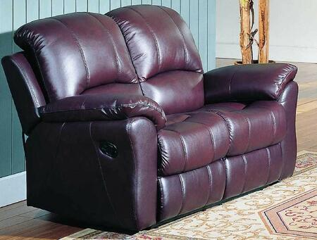 Yuan Tai KE8895LBGDY Kent Series Leather Loveseat with Wood Frame Loveseat