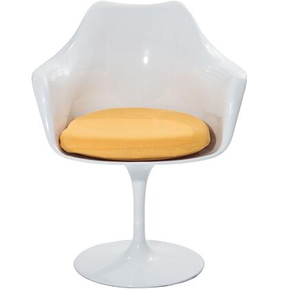 Modway EEI116YLW Lippa Series Modern Fabric Plastic Frame Dining Room Chair