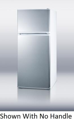 Summit FF1620WHSSTB Freestanding Top Freezer Refrigerator with 15.8 cu. ft. Total Capacity 2 Glass Shelves