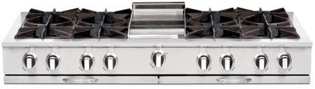 "Capital CGRT604G4N 60"" Culinarian Series Gas Open Burner Style Cooktop, in Stainless Steel"
