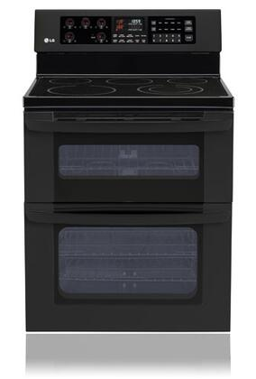 LG LDE3015SB  Electric Freestanding Range with Smoothtop Cooktop, 6.7 cu. ft Primary Oven Capacity, in Black