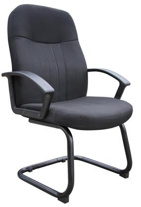 "Boss B8309 41"" Mid Back Fabric Guest Chair with Passive Ergonomic Seating"