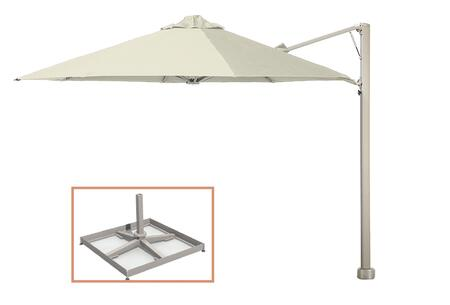 "Shadowspec Template: KITP6SQ25UNOPBAW (A) SU6 Uno 8'2""/2.5m Square Umbrella with Portable Base Fixing in Arctic White"