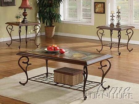 "Acme Furniture 10015 50"" Traditional Living Room Table Set"