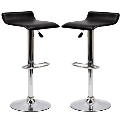 Modway EEI937BLK Gloria Series Residential Faux Leather Upholstered Bar Stool