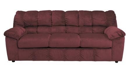 Signature Design by Ashley Julson 2660X38 Sofa with 3 Loose Seat Cushions, Divided Back Design and Plush Padded Arms in