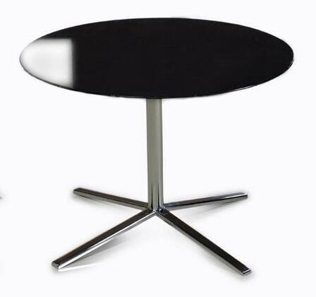 """VIG Furniture VGDVT48A Versus 23"""" Round End Table with Wide Stainless Steel Base and High Gloss Table Top in"""
