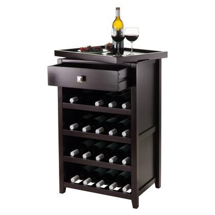 Winsome Wine Rack 92725 Open Props Zillah