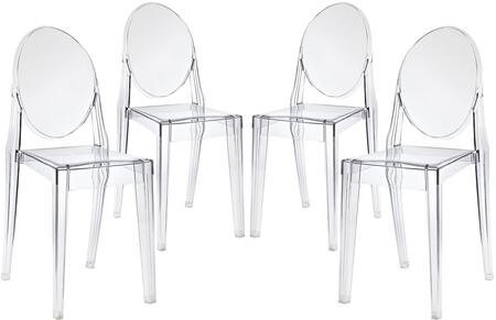 Modway EEI908CLR Casper Series Modern Not Upholstered Polycarbonate Frame Dining Room Chair