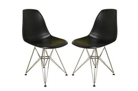 Wholesale Interiors DC231BLACKSET Dining Room Chairs