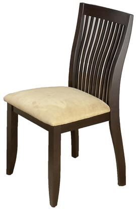 Jofran 845752KD Contemporary Fabric Wood Frame Dining Room Chair