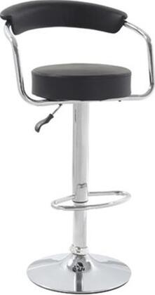 Fine Mod Imports FMI2123 Smart Bar Stool With Chrome Base, Swivel Chair, Height Adjustable, Leatherette Seat and Back & In