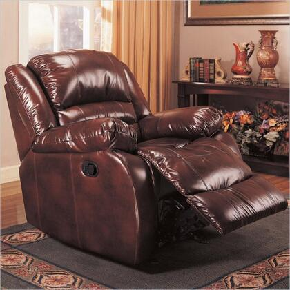 Coaster 600258 Casual Fabric Wood Frame Rocking Recliners