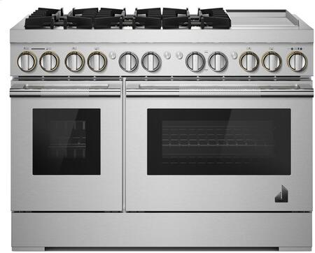 Jenn-Air JDRP548HL 48-INCH DUAL-FUEL PROFESSIONAL RANGE WITH CHROME-INFUSED GRIDDLE