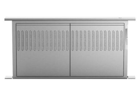 """DCS HDX Downdraft Vent Hood with Dishwasher-safe Stainless Steel Mesh Filters, Slider Exhaust Control, 14"""" Vertical Rise, and Discreet Design: Stainless Steel"""