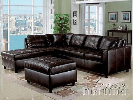 Acme Furniture 15200 Milano Series  Bonded Leather Sofa