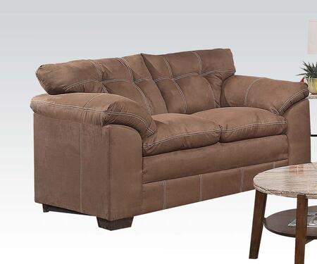 Acme Furniture 50366 Lucille Series Microfiber Stationary Loveseat