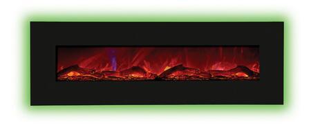 Amantii WMBI586421BLKGLS Wall Mountable Electric Fireplace