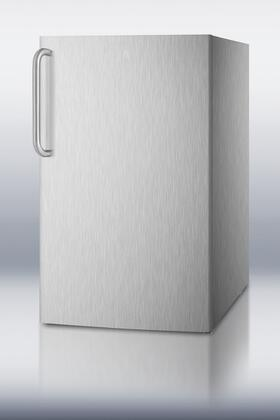 Summit CM421BLXSSTBADALHD  Compact Refrigerator with 4.1 cu. ft. Capacity in Stainless Steel
