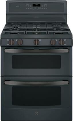 "GE Profile PGB960 30"" Freestanding Double Oven Gas Range with 6.8 cu. ft. Total Capacity, 5 Burners, Convection, Self-Clean, Grill/Griddle, and Star-K Certified, in"
